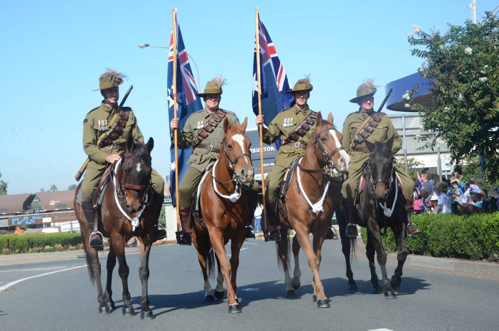 A busy Anzac Day march in Muswellbrook in 2019. Photo: File